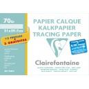 Pochette papier calque Clairefontaine - 24 x 32 - 70 gr