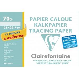 Pochette papier calque Clairefontaine - 21 x 29,7 - 70 gr