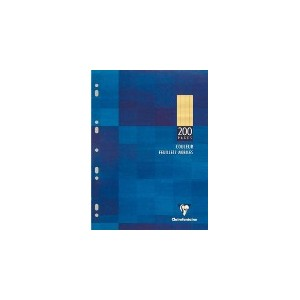 Feuilles simples Clairefontaine - 17 x 22 cm - Blanches -Seyes -200 pages