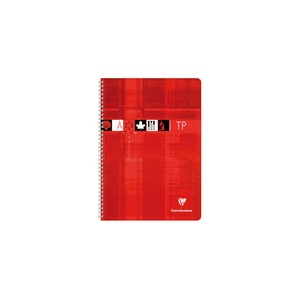 Cahier TP spirale Clairefontaine - 17 x 22 - 40 dessin +40 - seyes