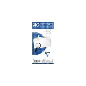 Enveloppe blanche 110 x 220 - 80 gr - Paquet de 20
