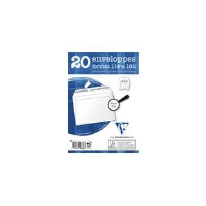 Enveloppe blanche 114 x 162 - 80 gr - Paquet de 20