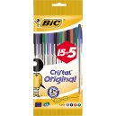 Stylo bille pointe moyenne - Lot de 15 + 5 gratuit