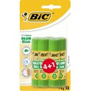 Baton de colle Bic Lot de 4+1 grtauit  - 8 gr