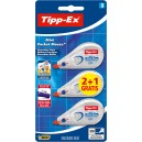 Correcteur TIPP-EX - Mini pocket mouse - 5 mm x 5M Lot 2+1