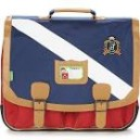 Cartable Tann's - Gibeciere 41 cm - Polo Bleu/Rouge - Nylon haute techn