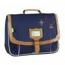 Cartable Tann's - Gibeciere 38 cm - Fantaisi corto bleu - Nylon haute techn