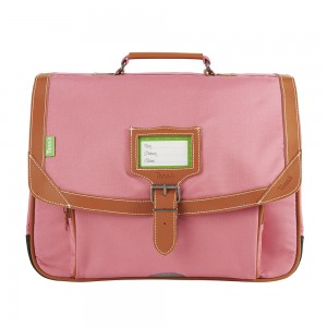 Cartable Tann's - Gibeciere 38 cm - Les unis Portofino rose