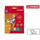 Crayon de couleur Stabilo Trio triangulaire mine de 4 mm
