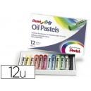 Pastel à l'huile Pentel - Diametre 8 mm - Boite de 12