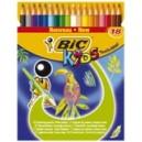 Crayon de couleur CONTE Tropicolors - Etui de 18 assortis