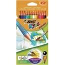 Crayon de couleur Bic Kids - Pochette de 12 - Aquacouleur