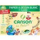 Pochette papier dessin Canson - 21 x 29.7 cm - 224 gr - Blanc