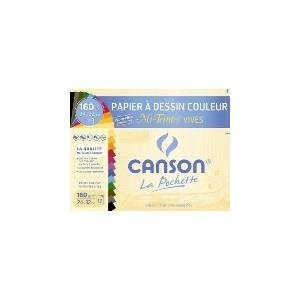 Pochette papier dessin Canson - 24 x 32 cm - 160 gr - couleur vi