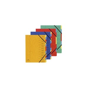 Trieur agraphées Exacompta carton 32 x 245 - 5/10 eme - 12 posit