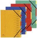 Trieur agraphées Exacompta carton 32 x 245 - 5/10 eme - 7 positi