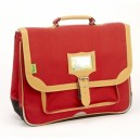 Cartable Tann's - Gibeciere 38 cm - Rouge - Nylon Haute technici