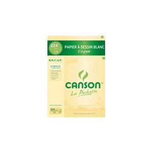 Pochette papier dessin Canson- C à grain -A3-29,7 x 42 - 224 gr