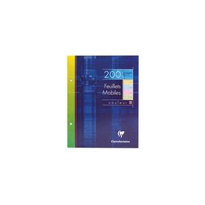 Feuille simple Clairefontaine - seyes - 17 x22 - Assortis colorées -200