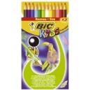 Crayon de couleur Bic Tropicolors - Etui de 12 assortis
